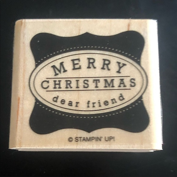 "✨3/$15 Stampin' Up ""Merry Christmas"" Stamper"
